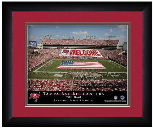 Tampa Bay Buccaneers 13 x 16 Personalized Framed Stadium Print