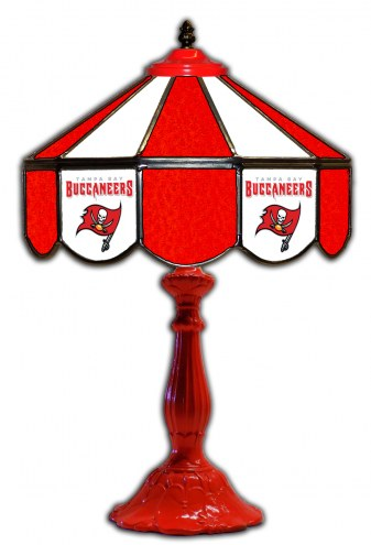 """Tampa Bay Buccaneers 21"""" Glass Table Lamp"""