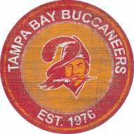 "Tampa Bay Buccaneers 24"" Heritage Logo Round Sign"