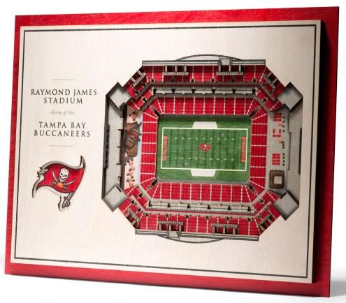 Tampa Bay Buccaneers 5-Layer StadiumViews 3D Wall Art