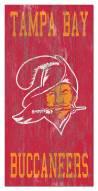 "Tampa Bay Buccaneers 6"" x 12"" Heritage Logo Sign"