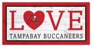 "Tampa Bay Buccaneers 6"""" x 12"""" Love Sign"