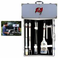 Tampa Bay Buccaneers 8 Piece Stainless Steel BBQ Set w/Metal Case