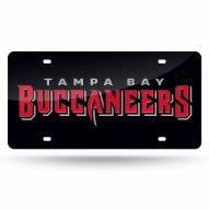 Tampa Bay Buccaneers Black Laser Cut License Plate