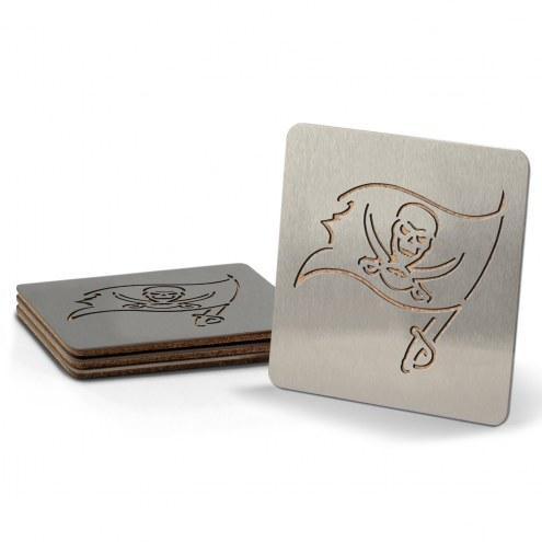 Tampa Bay Buccaneers Boasters Stainless Steel Coasters - Set of 4