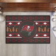 Tampa Bay Buccaneers Christmas Sweater Starter Rug