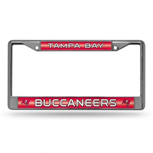 Tampa Bay Buccaneers Chrome Glitter License Plate Frame