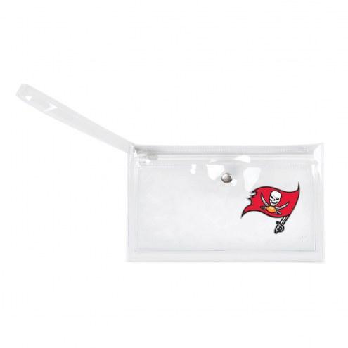 Tampa Bay Buccaneers Clear Ticket Wristlet
