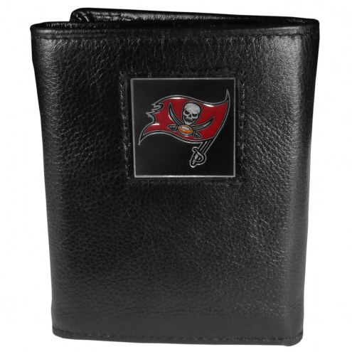 Tampa Bay Buccaneers Deluxe Leather Tri-fold Wallet in Gift Box