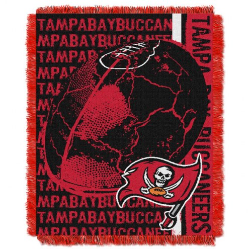 Tampa Bay Buccaneers Double Play Jacquard Throw Blanket