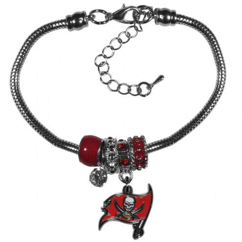 Tampa Bay Buccaneers Euro Bead Bracelet