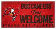 Tampa Bay Buccaneers Fans Welcome Sign