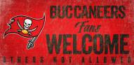 Tampa Bay Buccaneers Fans Welcome Wood Sign