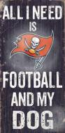 Tampa Bay Buccaneers Football & Dog Wood Sign