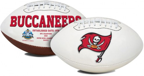 Tampa Bay Buccaneers Full Size Embroidered Signature Series Football