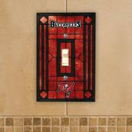 Tampa Bay Buccaneers Glass Single Light Switch Plate Cover
