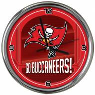 Tampa Bay Buccaneers Go Team Chrome Clock