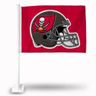 Tampa Bay Buccaneers Helmet Car Flag