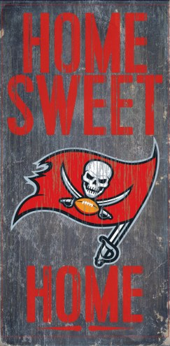 Tampa Bay Buccaneers Home Sweet Home Wood Sign