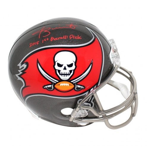 Tampa Bay Buccaneers Jameis Winston Signed Full Size Replica Helmet w/ 2015 1st Overall Pick