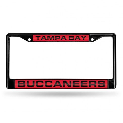 Tampa Bay Buccaneers Laser Black License Plate Frame