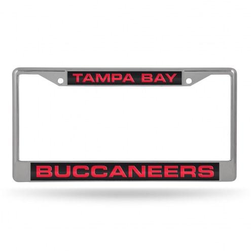 Tampa Bay Buccaneers Laser Chrome License Plate Frame