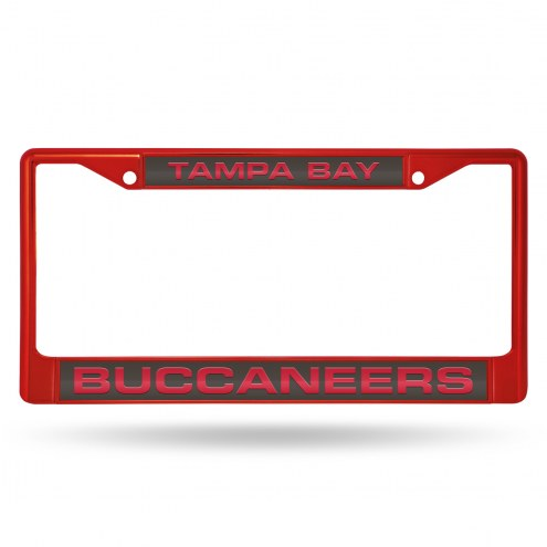 Tampa Bay Buccaneers Laser Colored Chrome License Plate Frame