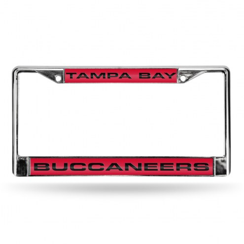 Tampa Bay Buccaneers Laser Rico Chrome License Plate Frame
