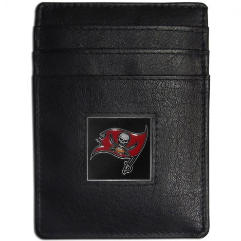 Tampa Bay Buccaneers Leather Money Clip/Cardholder in Gift Box