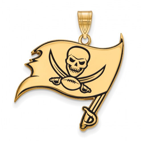 Tampa Bay Buccaneers Sterling Silver Gold Plated Large Pendant