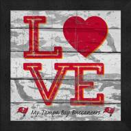 Tampa Bay Buccaneers Love My Team Square Wall Decor
