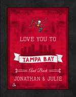 Tampa Bay Buccaneers Love You to and Back Framed Print