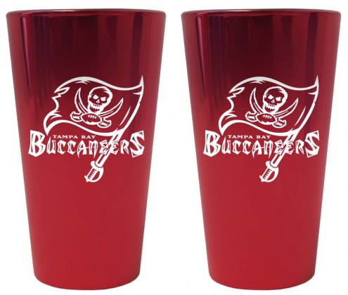 Tampa Bay Buccaneers Lusterware Pint Glass - Set of 2