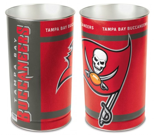 Tampa Bay Buccaneers Metal Wastebasket