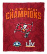 Tampa Bay Buccaneers NFL 2x Super Bowl Champions Silk Touch Throw Blanket