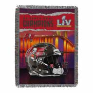 Tampa Bay Buccaneers NFL 2x Super Bowl Champions Woven Tapestry Throw Blanket