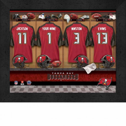 Tampa Bay Buccaneers NFL Personalized Locker Room 11 x 14 Framed Photograph