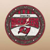 Tampa Bay Buccaneers NFL Stained Glass Wall Clock