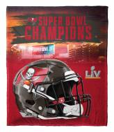Tampa Bay Buccaneers NFL Super Bowl LV Champions Silk Touch Throw Blanket