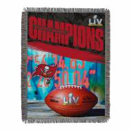 Tampa Bay Buccaneers NFL Super Bowl LV Champions Woven Tapestry Throw Blanket