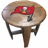 Tampa Bay Buccaneers Oak Barrel Table