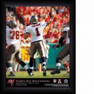 Tampa Bay Buccaneers Personalized 11 x 14 NFL Action QB Framed Print
