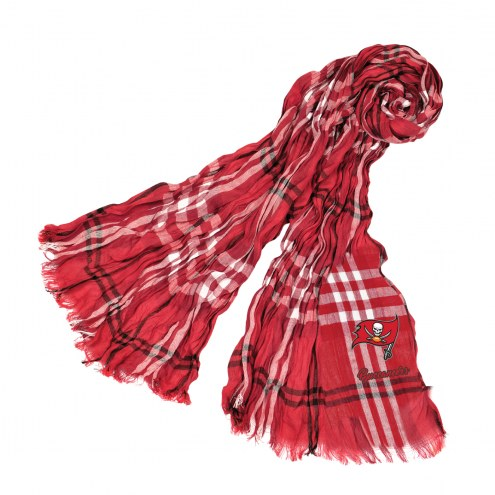 Tampa Bay Buccaneers Plaid Crinkle Scarf