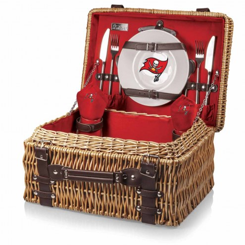 Tampa Bay Buccaneers Red Champion Picnic Basket