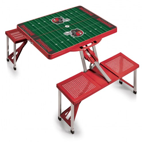 Tampa Bay Buccaneers Red Folding Picnic Table