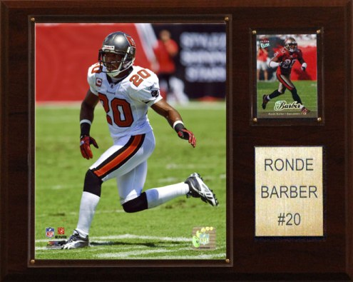 "Tampa Bay Buccaneers Ronde Barber 12 x 15"" Player Plaque"