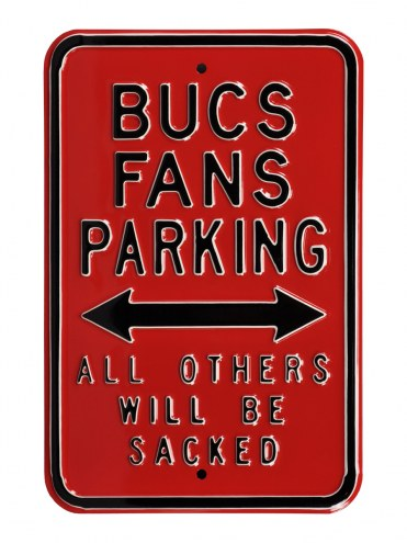 Tampa Bay Buccaneers Sacked Parking Sign