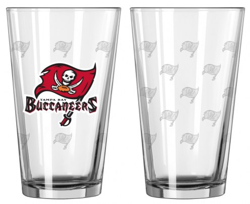Tampa Bay Buccaneers Satin Etch Pint Glass - Set of 2