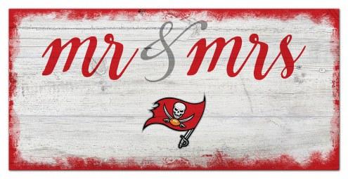 Tampa Bay Buccaneers Script Mr. & Mrs. Sign