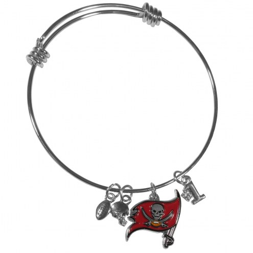 Tampa Bay Buccaneers Charm Bangle Bracelet